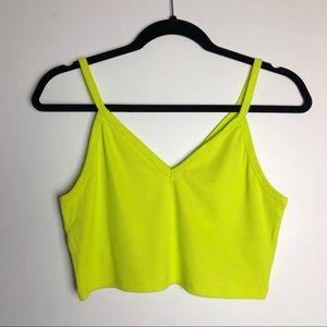 Zara Trafaluc Neon Crop Top